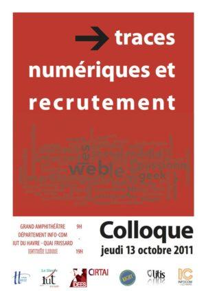 Affiche du colloque Traces numériques et recrutement